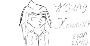Young Xehanort  :Sketch: by tailsdude12