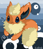 I BE FLAREON: FLUFFYHURR by SweetBeriiChu
