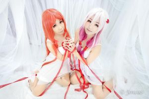 Guilty Crown - Mana and Inori by Wisterillia