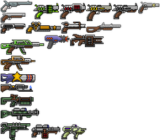 Terraria Texturepack: Ranged Weapons(not complete) by lollppaint