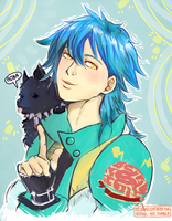 AOBA i jego pies bo to kurna jest pies by AtomicKitten13