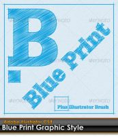 Blue Print Illustrator Style by gruberdesigns