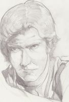 H Ford - Han solo sketch by Squamate