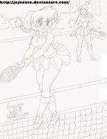 Ranma Saotome and Frankie Foster playing Tennis. by Jojocoso