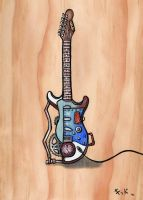 Steampunk Guitar by jenkiddo