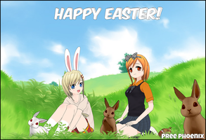 Happy Easter From Kenzie and Briar by PreePhoenix