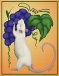 A Rat With Grapes by nEVEr-mor