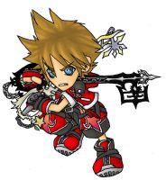 "Sora ""Valor"" Form SD by shadow-shasuka"