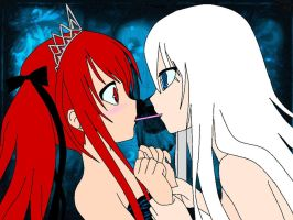 pocky game happy bday love by Yuki-Ukitake
