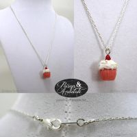 NEW and IMPROVED Cupcake necklaces by chat-noir