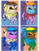 Andy Warhol vs MODOK by PlummyPress