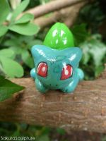 Bulbasaur Hiding In The Woods by SakuraSculpture