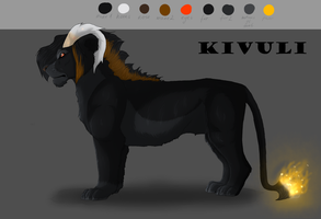 Kivuli ref sheet by Korrida
