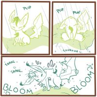Leafeon blooms :D by NAD-LifeOfficial