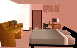 MMD Room Layout - Evening by BlAcK-BlADEn
