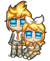 Kagamine Rin and Len by Ice--Chan