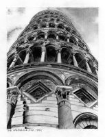 The Leaning Tower of Pisa by untilblack