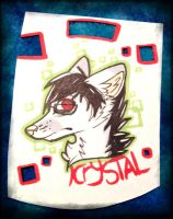 Krystal badge by toxicfox100