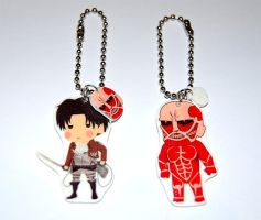 Attack on Titan / Shingeki no Kyojin  keychains by knil-maloon