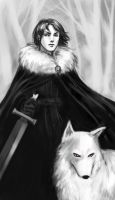 Lord Snow sketch by iara-art