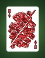10 of diamonds aka 10 of earth by LineDetail