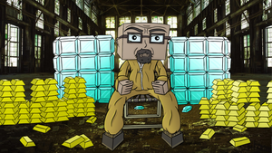 Minecraft art - Breaking bad: All hail the king by dannychopsnz