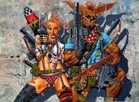 Tank Girl loves Booga by LOGANNINEFINGERS