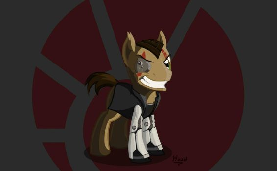Commission: Eve Online Minmatar pony by hushnowquietnow