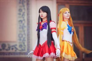 Sailor Mars, Sailor Venus : Passion and Beauty by LoveSenshi