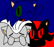 Sonic, Shadow and Silver by annabre24