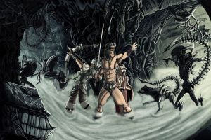 Bad crossovers 1: Conan Vs Aliens by Mattyred