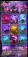 FairyTale Flowers backgrounds by moonchild-lj-stock