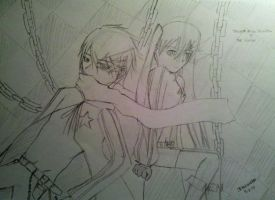 Sketch of BRS and BRS Kaito... by trinaxfantasy