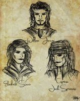 PotC: The Trio (Doodles) by IgnitingLights