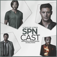 Supernatural Cast PNG Pack 003 by sohappilyart