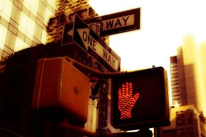 NYC Signs: One Way by josemiguels