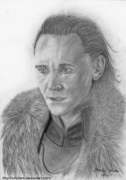 Loki with fur Traditional Art by Erkillers