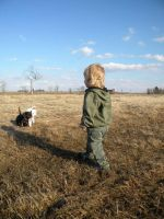 Boy and his Dogs by ShreepPhotography