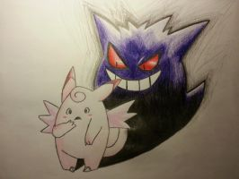 Clefable's Shadow by Bethaniesa