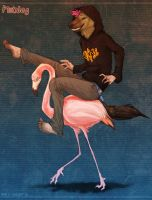 Ride That Flamingo by Dunewolf