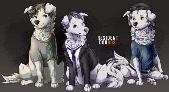 RE7: Sewer doggos by xY-a-z-z