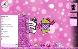 Hello Kitty Geek Nerd theme by LadyPinkilicious