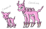 Corsola evos by TwilightTheEevee