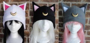 Luna, Artimus, Diana Sailor Moon Hats by akiseo