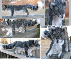 Dark Snow Leopard Plush by Jarahamee