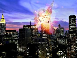 Chrysler Building exploding by Easy506Pir