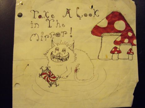 Take a look in the mirror, Original cheshire cat by emilybutler-emmy