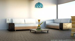 Interior Design Sofa sea Sweet Home Visualization  by str9led