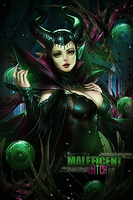 Maleficent - Sign by MikoKira