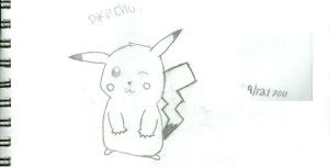 Pikachu drawing by katnappe-gurl